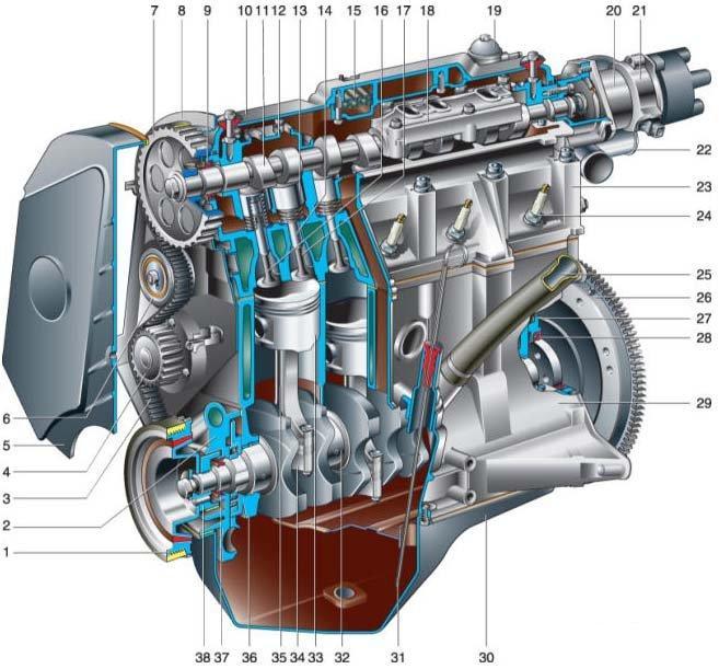 Мазда 626 схема двигателя фото 410